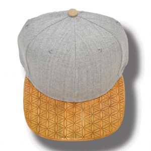 Flower of Life Engraving on a wood brim hat